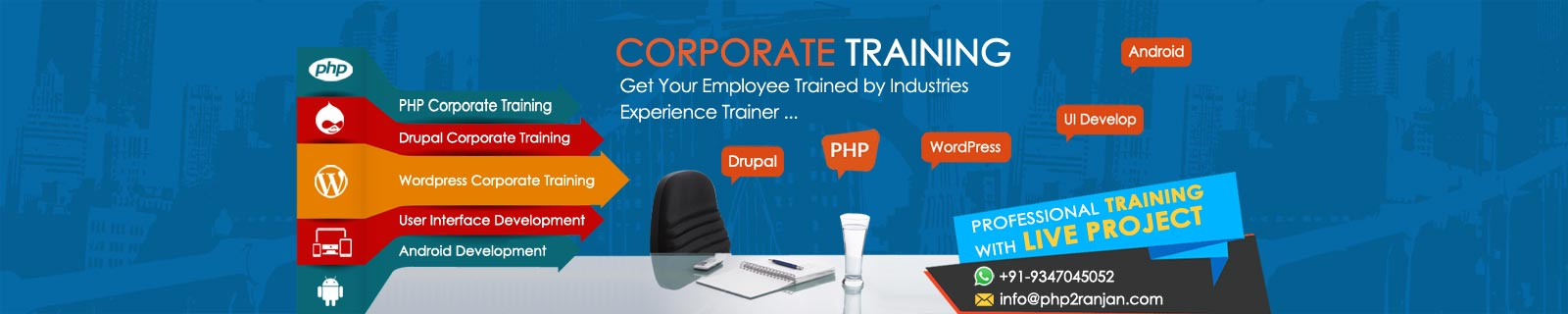 corporate php webdesigning trainer